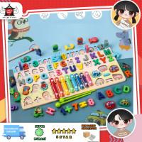 Mainan puzzle montessori, Papan puzzle pancing xylophone anak