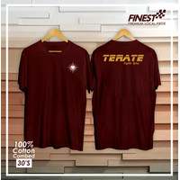 Kaos Baju Tshirt Pencaksilat PSHT TERATE warna maroon Custom Combed30S