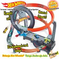 Hotwheels track Hyper Boost Tire shop ori Mattel Hot Wheels track auto