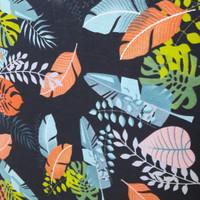 kanvas motif tropical hitam ( 50 cm x 150 cm )