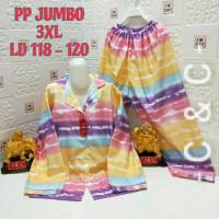 Baju tidur piyama( PP)/jumbo XXXL/ld.118-120/katun mikro - Td salur pink, XXXL