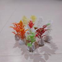 tanaman hiasan sintetis aquarium, aquascape ikan