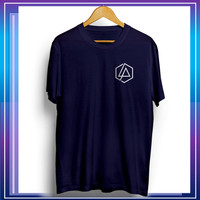 Baju Kaos Distro Pria Tshirt Cowok Kekinian Keren Logo Linkin Park - Blue Navy, L