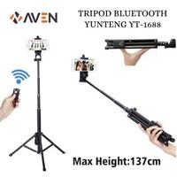 AVEN - Tongsis Tripod Bluetooth Yunteng VCT-1688 Selfie Stick Monopod