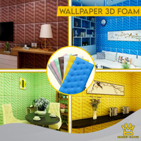 Bright Crown Wallpaper 3D Foam HeadBoard Stiker Dinding Busa 30x60cm
