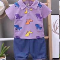 baju anak dinosaurus lucu termurah lebaran 1-4 tahun