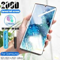 UV Glass Samsung S21 S21+ S21 Ultra Tempered Glass Curve FULL SCREEN