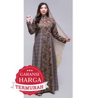 Gamis Baju Muslimah Long Syar'i Muslim Dress Batik 2945