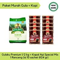 Paket Gula Gulaku Premium 500 gr Kopi Kapal Api Special Mix 1 Renceng