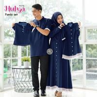 Couple Baju Koko Keluarga Modern Sarimbit Baju Gamis Wanita Muslimah