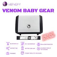 Venom Baby Gear VBG-1 Speaker Portable Bluetooth 5.0 Waterproof - Putih
