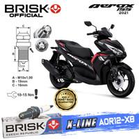 Busi Motor Brisk Premium Xline Tipe - AOR12-X8 AEROX 155 2021