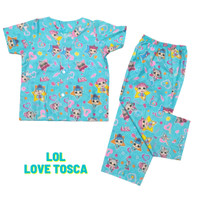 Piyama Anak / Baju Tidur Anak Perempuan Karakter Lol Love Tosca