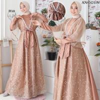dress pesta anggun baju muslimah mewah syari fashion