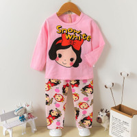 baju tidur anak /baju setelan anak perempuan/baju anak import 7-9th SW - Snow White, 95