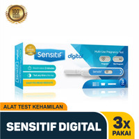 Sensitif digital Tespek alat test kehamilan Testpack 3x Pakai