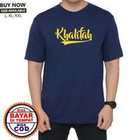 BAJU KAOS PRIA DAKWAH ISLAMI lengan pendek Khalifah READY L-XL-XXL