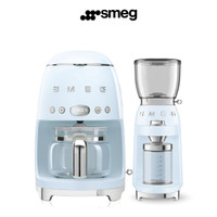 Promo SMEG Drip Coffee Machine and Coffee Grinder|Pastel Blue|