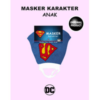 Masker Anak karakter DC Comic Superman Non Medis Anti Bakteri Anti Air