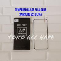 TEMPERED GLASS S21 ULTRA SAMSUNG FULL GLUE PREMIUM CURVE CLEAR/BENING