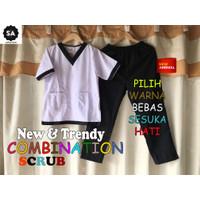 Baju OK / Trend 2021 / Baju OKA / Scrub Kombinasi / Baju Jaga
