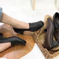 Sepatu wanita sepatu kerja pantofel kulit asli Garut