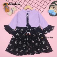 Dress Sissy 3-4 Tahun / Dres Anak Lengan Panjang 3/4 Baju Perempuan