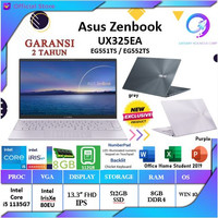 ASUS Zenbook UX325EA EG551TS EG552T | i5 1135G7 8GB 512ssd IrisXe +OHS