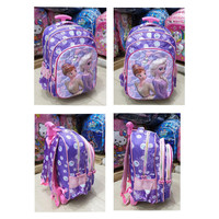 TAS DORONG TROLLEY SD ANAK PEREMPUAN FROZEN LILAC GLOSSY 3RESLETING