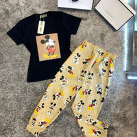 Kaos Mickey Set Dewasa free size