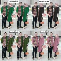 Baju Couple Batik Pria Kemeja Lengan Panjang Wanita Tunik Cp Kondangan