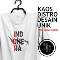 T-Shirt Peta Indonesia Combed 30S / Kaos Distro / Kaos Murah / Atasan