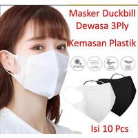 Masker Duckbill Putih 3Ply 10Pcs Mask Earloop 3D Putih Protective Mask