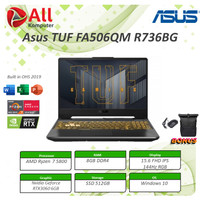 Asus TUF 15 FA506QM RTX3060 6GB Ryzen 7 5800 8GB 512ssd W10+OHS 144Hz