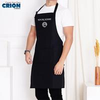 Apron/Celemek Bahan Drill-Master Chef Logo - Bisa Custom Nama By Crion