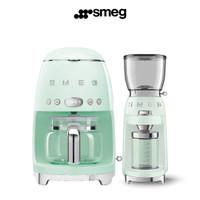 Promo SMEG Drip Coffee Machine and Coffee Grinder|Pastel Green|