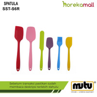 Spatula Silicone Tools Set Rainbow (6pcs) SST-S6R