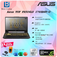 Asus TUF FX506LU i7 10870 8GB 512ssd GTX1660Ti 4GB W10+OHS 15.6FHD RGB