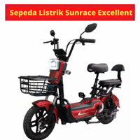 Sepeda Listrik Sunrace Excellent 48V-12Ah - Merah