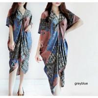 BM - Aurel Dress Kaftan Batik Baju Wanita Lebaran Fashion SLC
