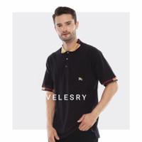 VELESRY Kaos Kerah Pria/Polo Shirt Premium Pria - BLACK, M