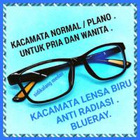 Kacamata NORMAL Anti Radiasi Blue ray kacamata Trasparan Pria wanita