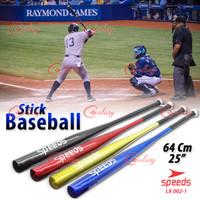 Stick Bat Tongkat Baseball Softball Pemukul Kasti 86cm 34inch 002-05 - Hitam, 25 Inch 002-1