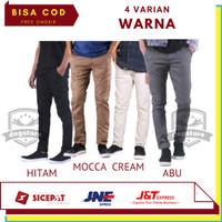 Celana Chino Panjang Pria Slimfit Original Cotton Twill Big Size Jumbo