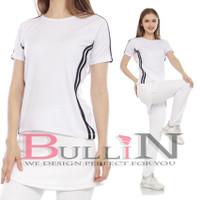 Baju Olahraga Senam Wanita Kaos Fitnes Tangan Pendek Gowes Women Sport
