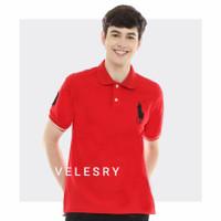 Kaos Polo Shirt Pria Premium High Quality - Merah, M