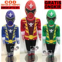 Parcel Ramadan Baju Setelan Panjang Kostum Power Ranger 1 Set + Topeng