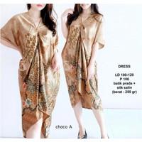 BM - Aira Dress Kaftan Batik Baju Wanita Lebaran Fashion CLS