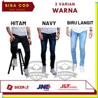 Celana Jeans Pria Slim Fit Denim Stretch Big Size Jumbo Original