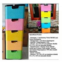 Lemari Plastik 5Laci / Container 5 Laci Plastik